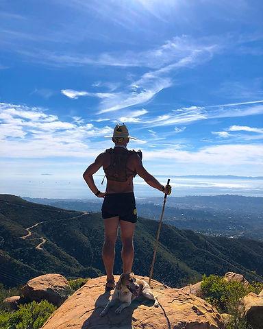 The mountains behind Santa Barbara…just