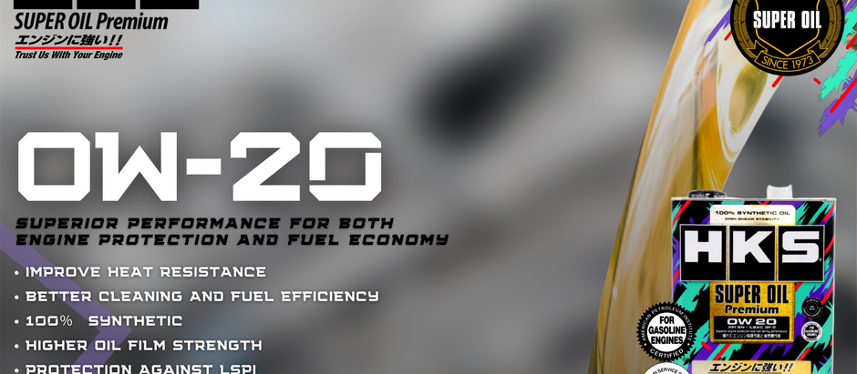 Announcing the new release of HKS Super Oil Premium lineup- The API/SP 0W20!