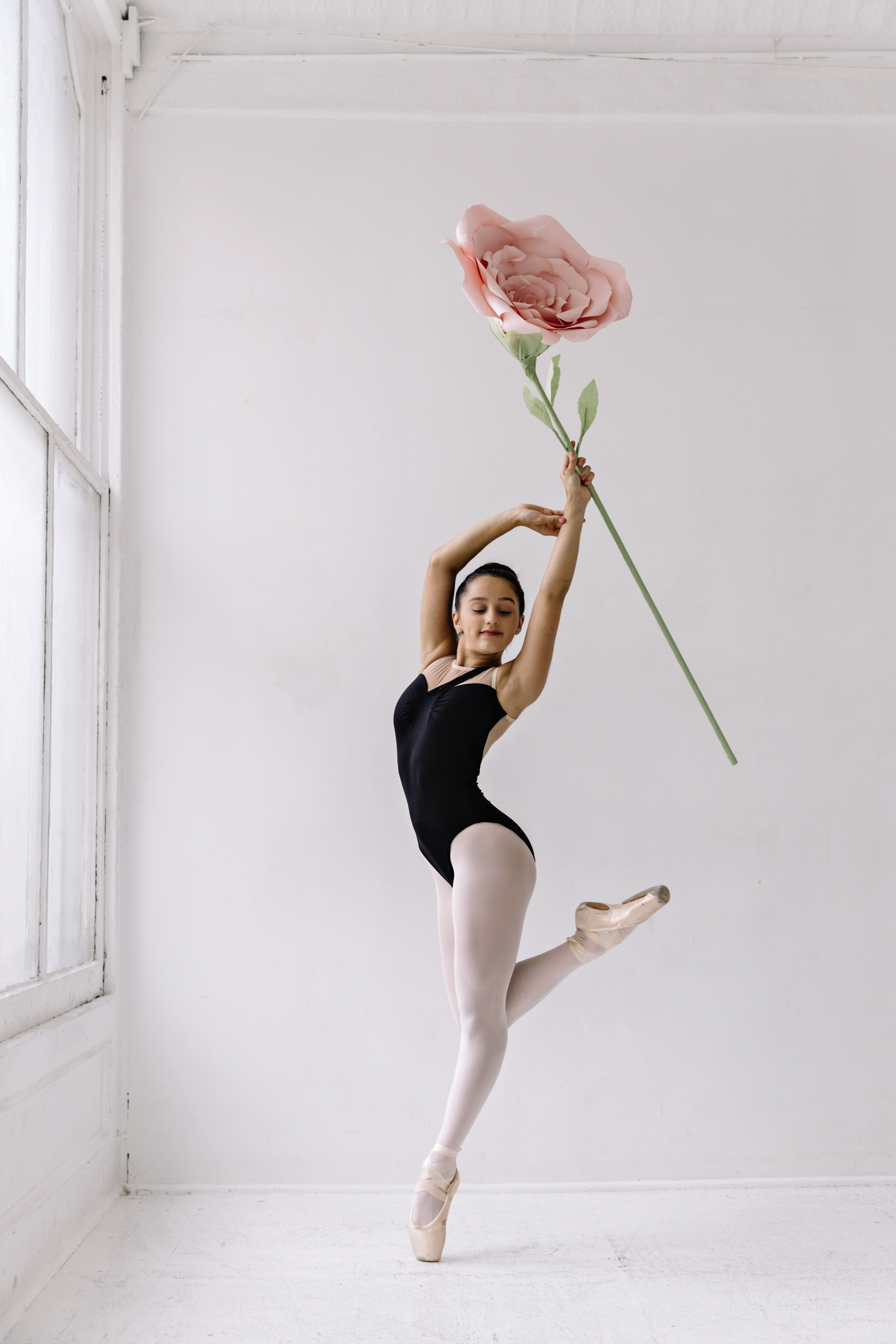Ballerina with rose