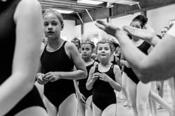 Ballerinas after rehearsal