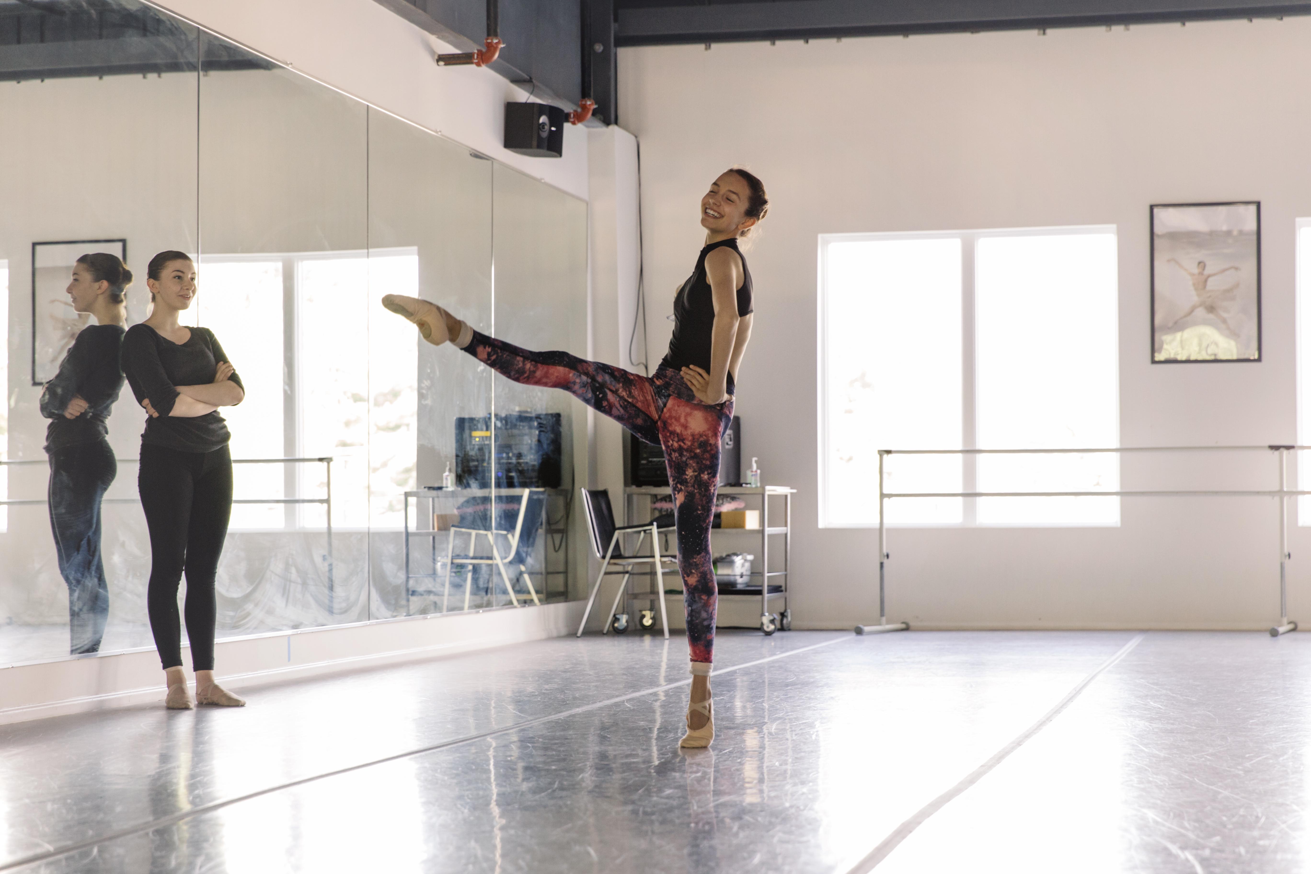 Joyful ballerina