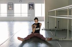 Pre-professional ballerina at rest