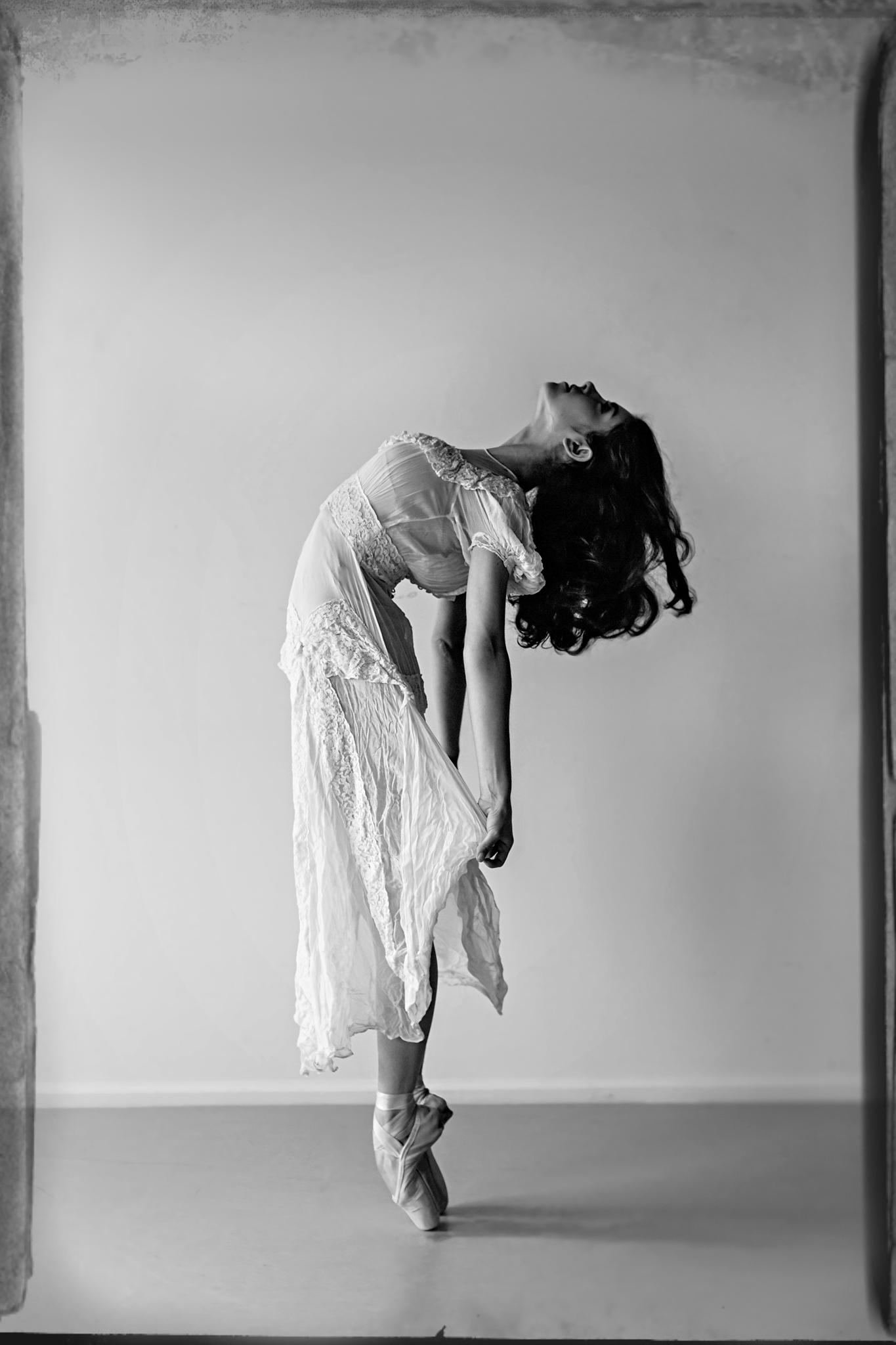 Ballerina in a vintage dress