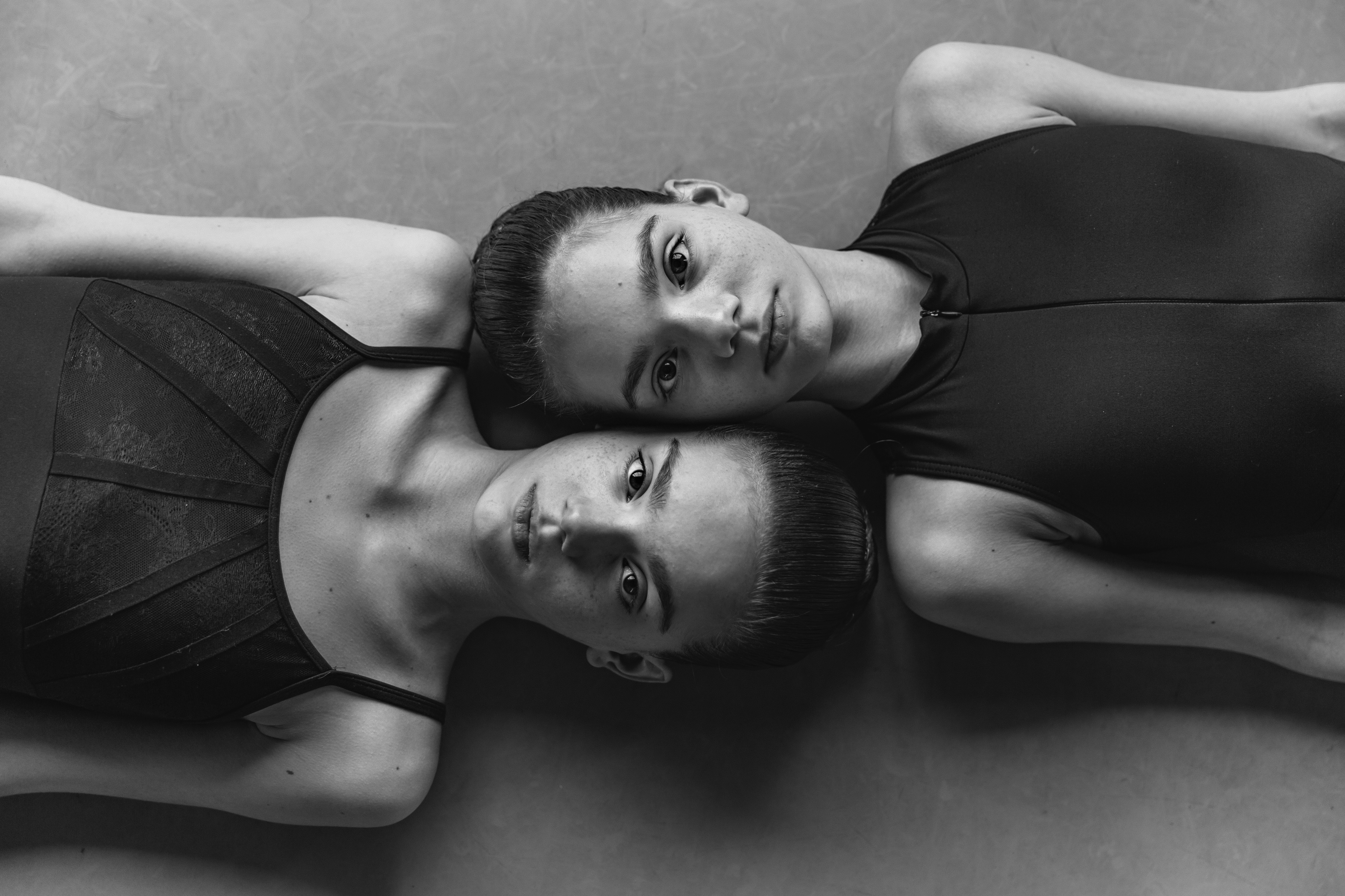 Portrait of twin ballerinas