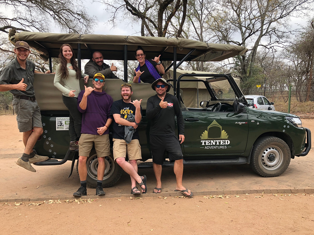 The crew with our Tented Adventure guides