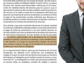 Implicaciones económicas para el empleador de la declaratoria de contrato realidad en el caso de un