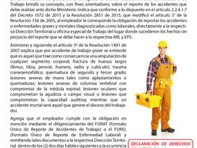 Empleador o contratista sólo deben reportar accidentes catalogados como graves o mortales