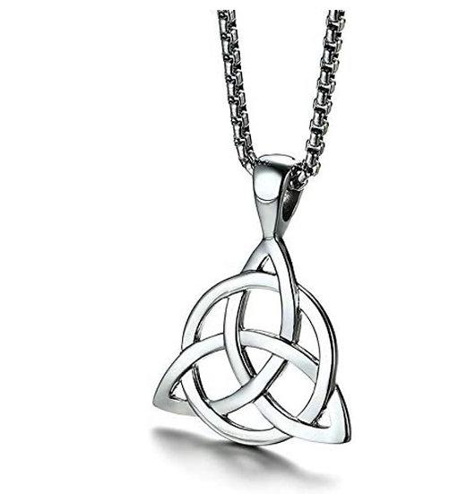 Triquetra Knot Pendant, Triquetra Necklace, Celtic Necklace, Trinity Knot, Tripl