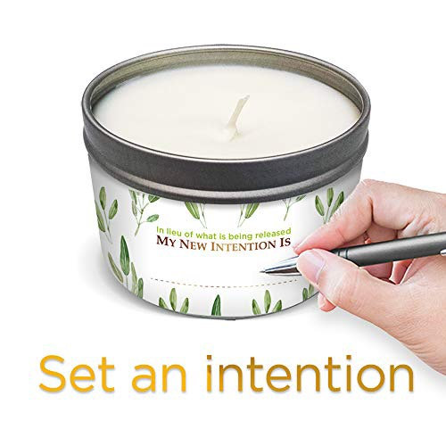 Pure sage  cleansing candle