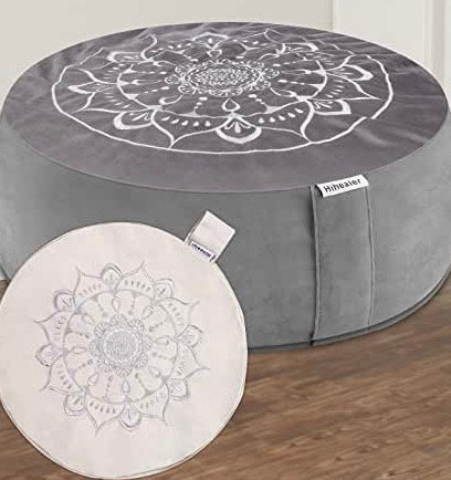 "Hihealer Meditation Cushion Floor Pillow with Extra Cover 16""x16""x5"" Meditation"