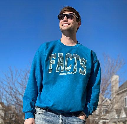 Ocean Blue FACTS Bentellect Crewneck Sweatshirt