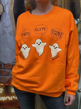Halloween FACTS Orange Bentellect Crewneck Sweatshirt
