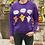 Thumbnail: Halloween FACTS Purple Bentellect Crewneck Sweatshirt