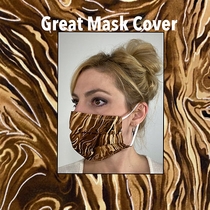 Tiger stripes cotton Face Mask washable reusable with nose wire