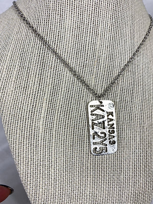 License Plate Dog Tag Necklace