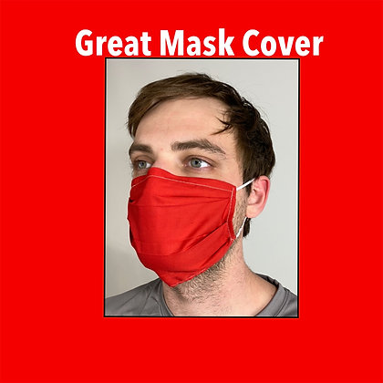 Red cotton Face Mask washable reusable with nose wire