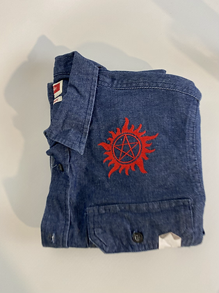 Anti possession  denim shirt small