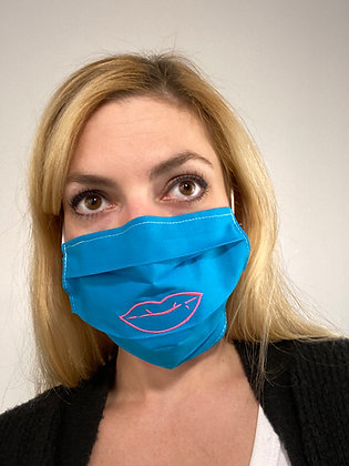Lips mouth embroidered Face Mask Washable Reusable