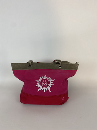 Pink Supernatural canvas purse
