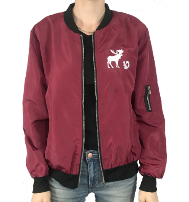 Green Custom Embroidered Design Members only Bomber Jacket Green Moose  Squirrel | not-topic