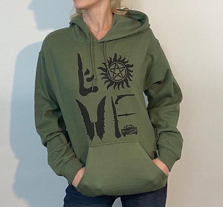 Supernatural LOVE Hoodie Sweatshirt