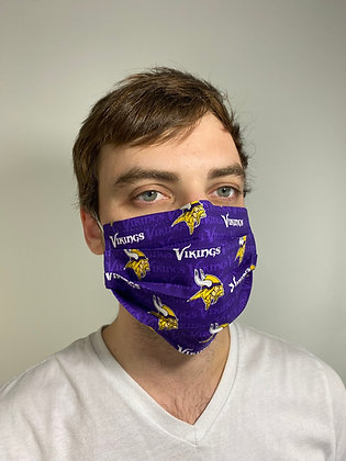 Minnesota Vikings Football cotton Face Mask washable reusable with nose wire