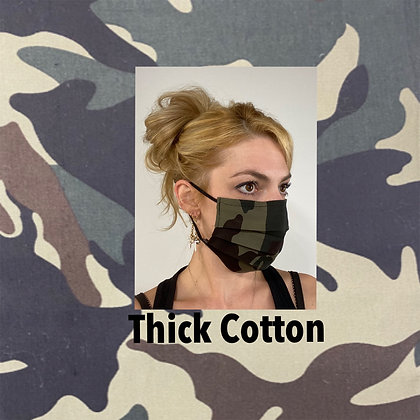 Camoufalge thick cotton Face Mask washable reusable with nose wire
