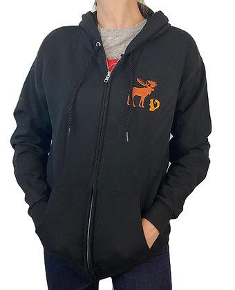 Embroidered Hoodie Zip Up Sweatshirt Hooded Custom