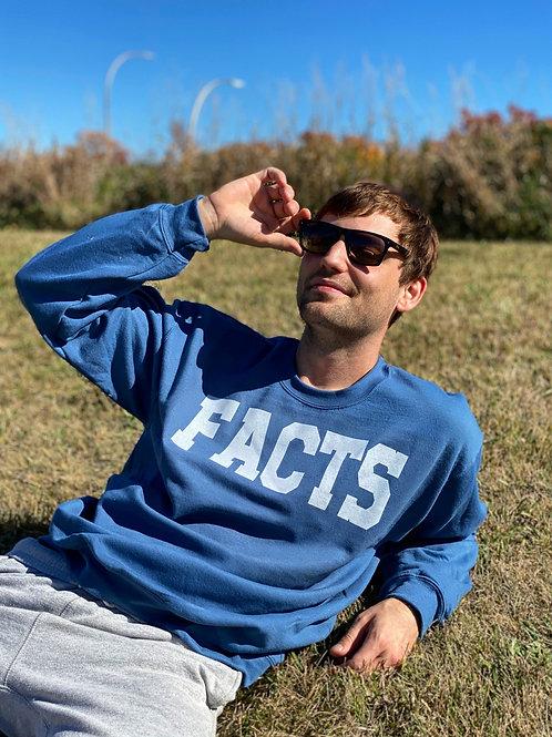 Facts Blue Bentellect Crewneck Sweatshirt