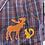 Thumbnail: Moose and squirrel plaid shirt large