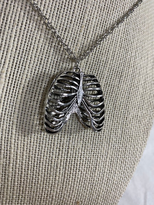 Skeleton Rib Cage Necklace