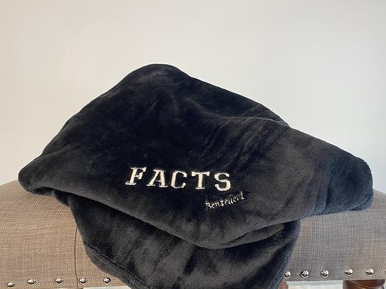 FACTS Black Super Soft Bentellect Blanket
