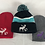 Thumbnail: Moose and Squirrel Beanie Custom Embroidery Design Slouch Cap Hat Toboggan Chook