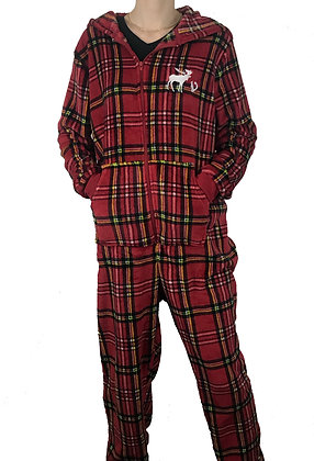 Supernatural Plaid Onesy Jumper Pajama Set