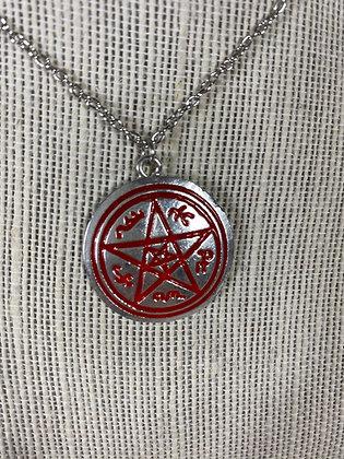 Devil Trap Medallion Necklace