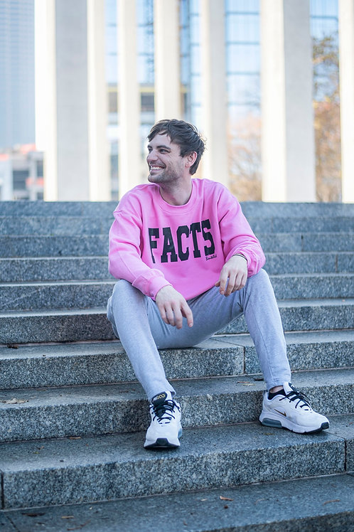 Pink Bentellect FACTS Collegiate Crewneck