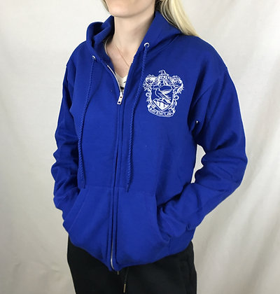Ravenclaw Inspired Zip-Up Hoodie