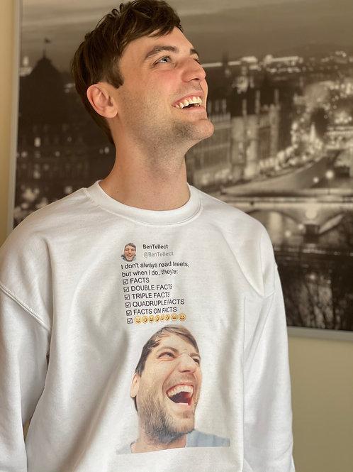 Tweet Read Bentellect Crewneck Sweatshirt