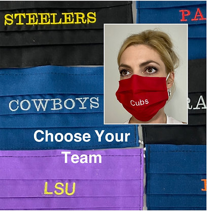 Choose your Sports team Face Mask Washable Reusable