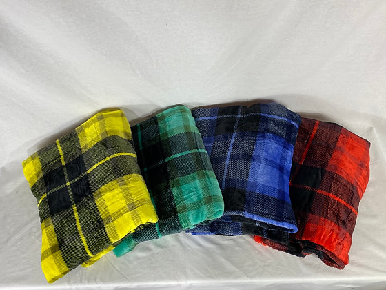 House Inspired Plaid Blankets
