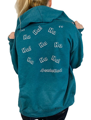 Bentellect HAHA Teal Zip Up Hoodie