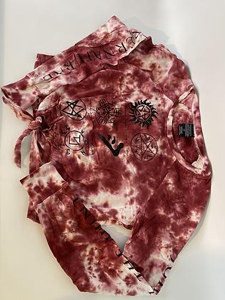 Supernatural Cropped Tie Dye L/S top
