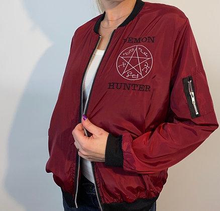 Supernatural Bomber Jacket embroidered sam dean winchester