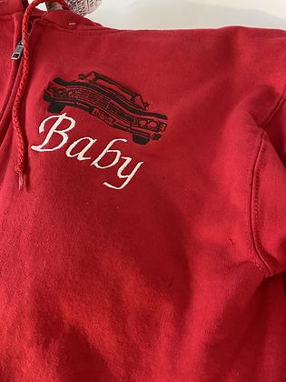 Baby Red Zip Up Sweatshirt Small