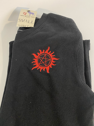 Small supernatural waffle l/s top shirt
