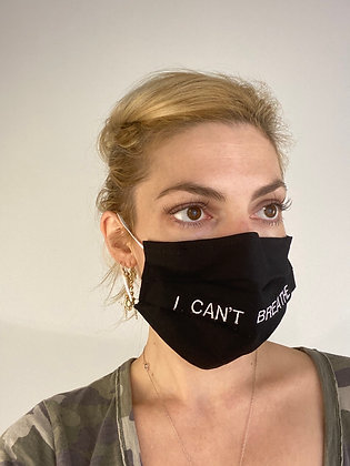 I Can't Breathe Face Mask Washable Reusable