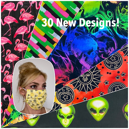 New Colors Face Mask Washable Reusable