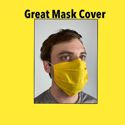 Yellow cotton Face Mask washable reusable with nose wire