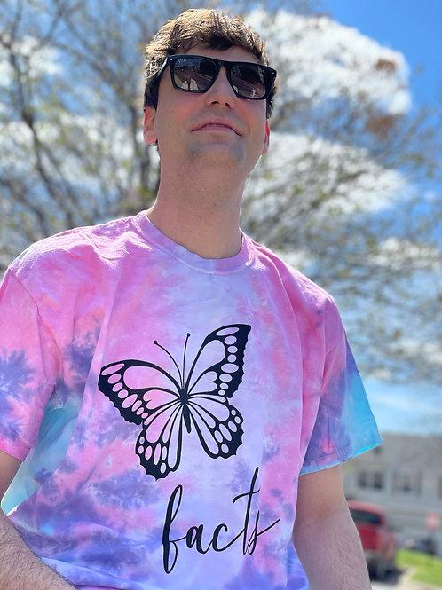 Butterfly Tie Dye FACTS Bentellect T-Shirt