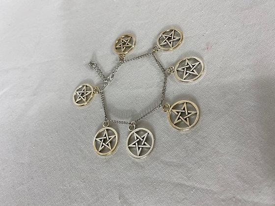 Pentagram bracelet Dangle